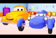 Modré závodní auto