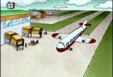 Teo letí letadlem